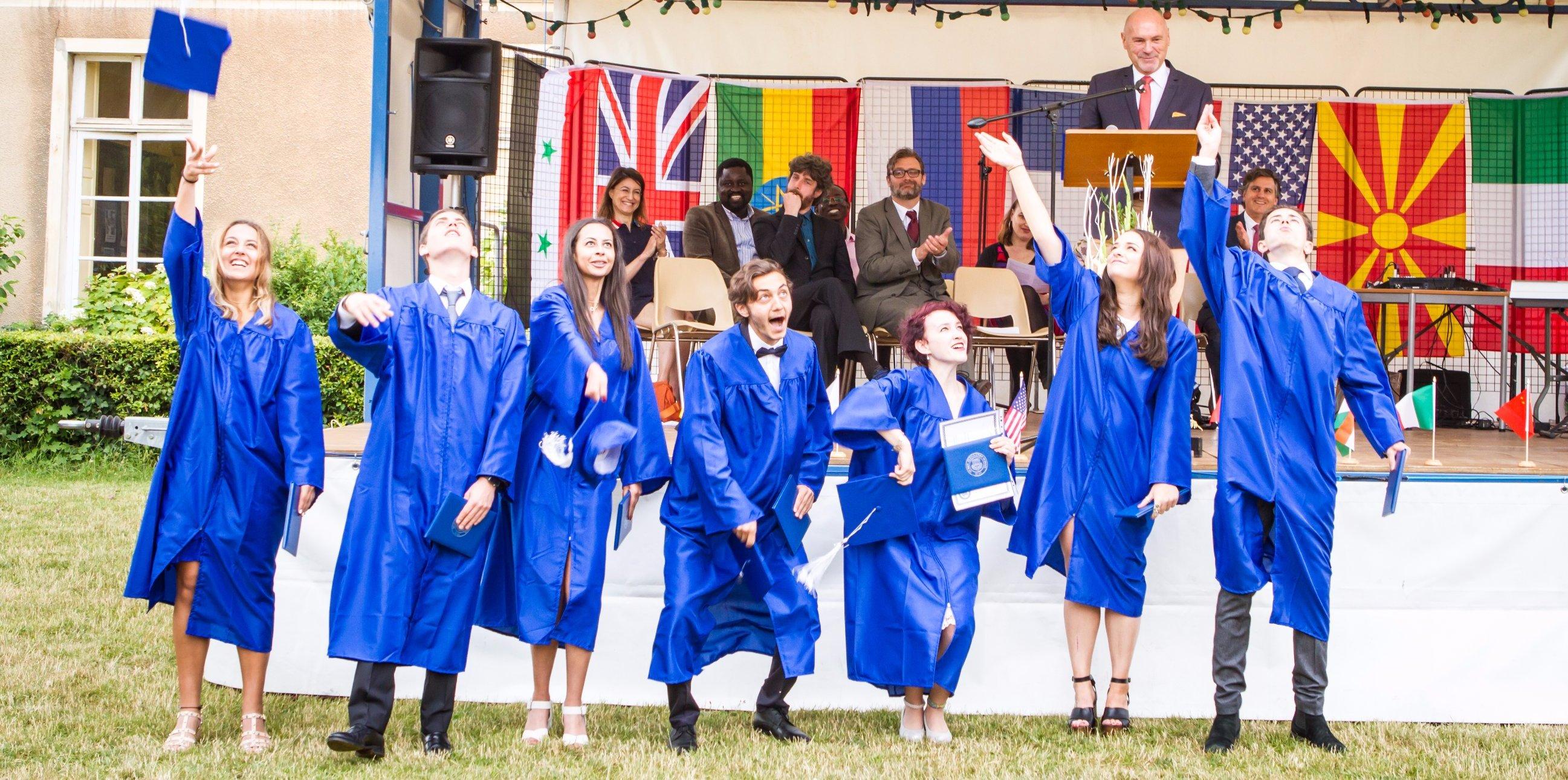 Notre-Dame International High School - Happy graduates Class 2017